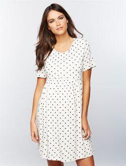 Envie De Fraise Dot Print Nursing Dress, WHITE/BLACK DOT