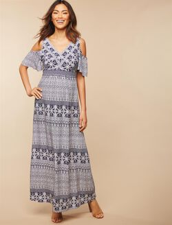 Jessica Simpson A-line Maternity Dress, NAVY PRINT