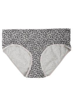 Plus Size Maternity Fold Over Panties (Single), Animal Print
