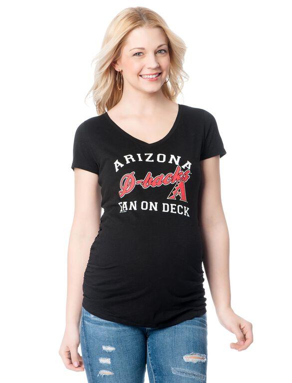 Arizona Diamondbacks MLB Short Sleeve Maternity Graphic Tee, Diamond Backs