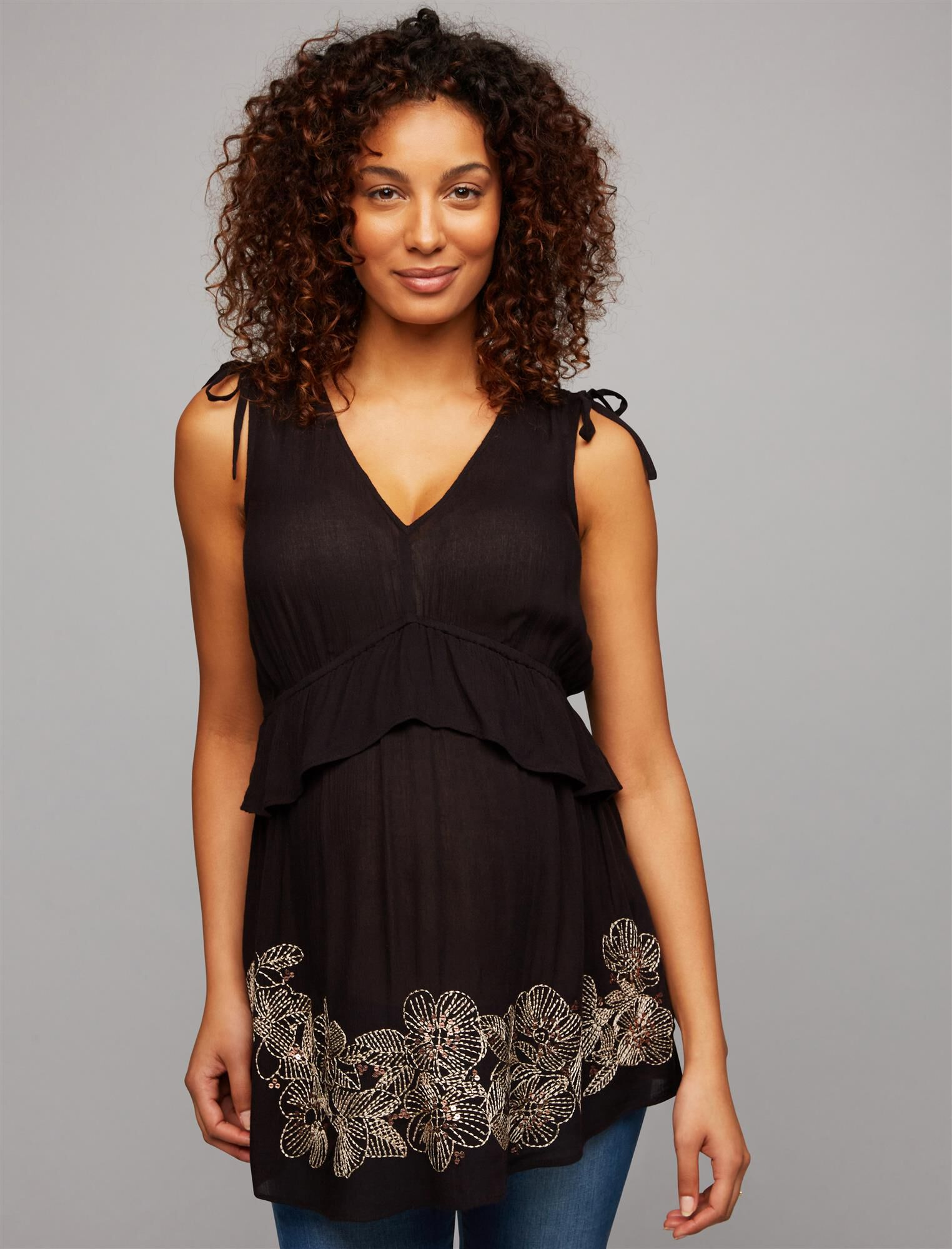 Embroidery Maternity Top