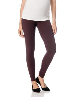 Secret Fit Belly Maternity Leggings- Brown, Brown