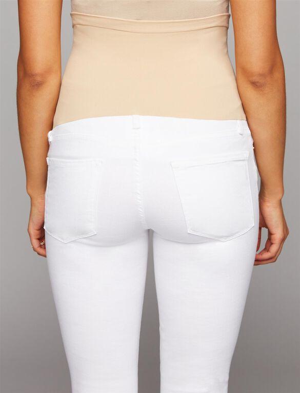 FRAME Secret Fit Belly Skinny Leg Maternity Jeans, White