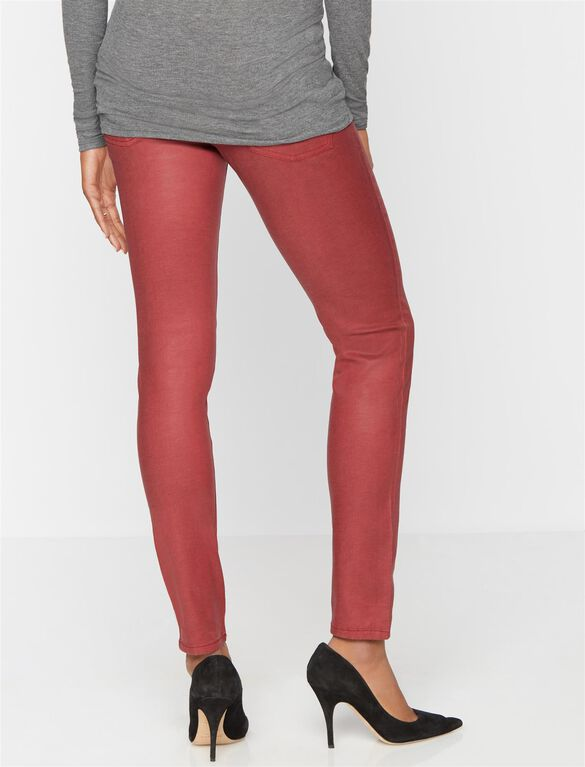 DL1961 Secret Fit Belly Skinny Coated Maternity Jean, Coated Gemstone