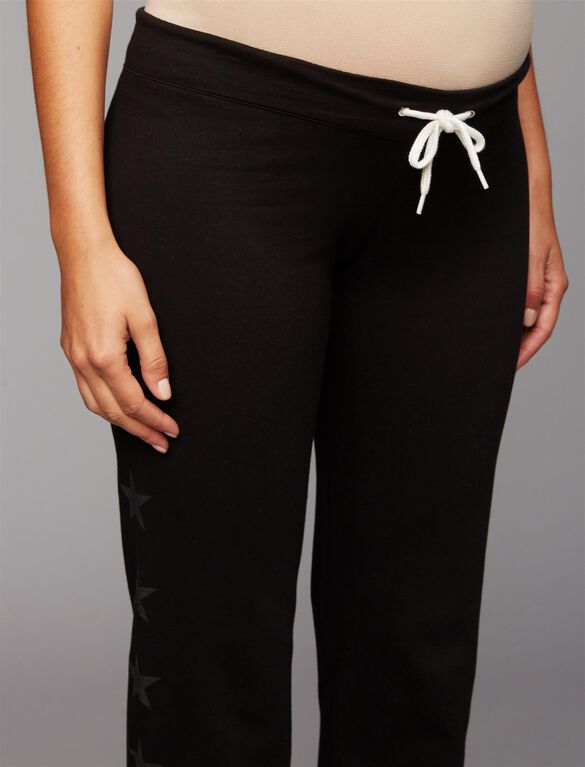Web Only Monrow Under Belly Jogger Maternity Jogger Pant, Black
