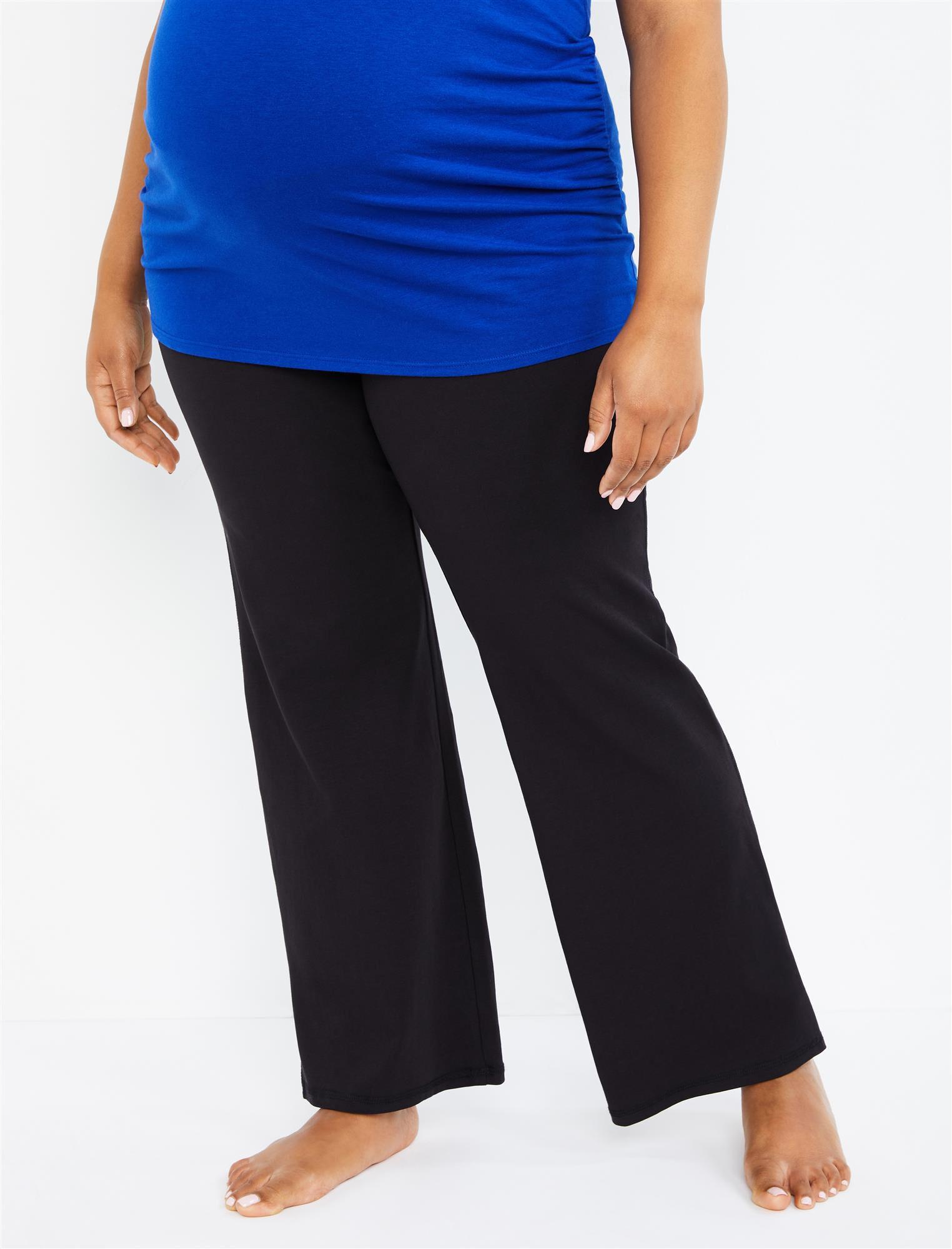 Plus Size Secret Fit Belly Boot Cut Maternity Yoga Pants