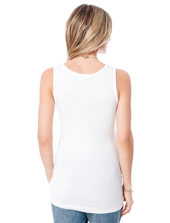 Splendid Maternity Tank Top- Solid, White
