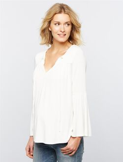 Rachel Pally Klara Maternity Top, White