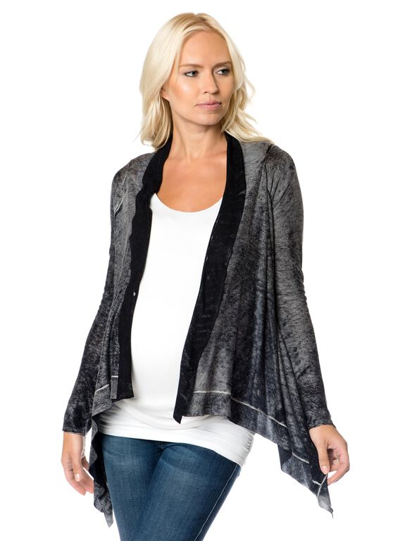 Cascade Maternity Sweater, Black Burnout