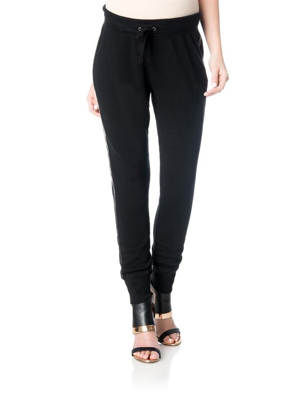 Pull On Style Maternity Jogger Pant, Black