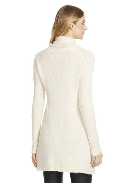 Jessica Simpson Slit Maternity Tunic, White Swan