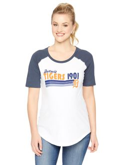 Detroit Tigers MLB Elbow Sleeve Maternity Graphic Tee, Tigers