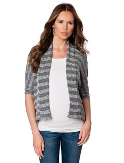 Splendid Open Front Maternity Cardigan, Graphite