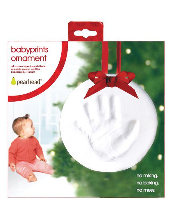 Peahead Babyprints Ornament, Handprint Ornament
