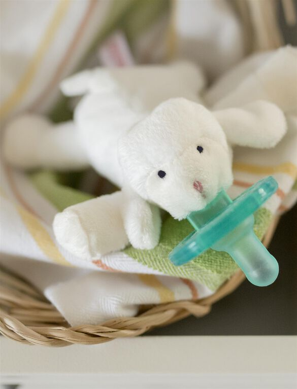WubbaNub Lamb Infant Pacifier, Lamb