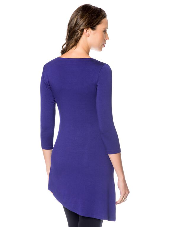 Luxe Essentials Maternity Tunic, Royal Blue