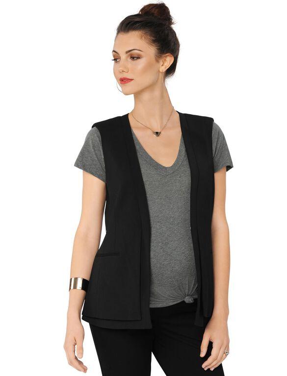 BCBGMAXAZRIA Maternity Vest, Black