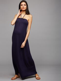 Ella Moss Halter Maternity Dress, Navy