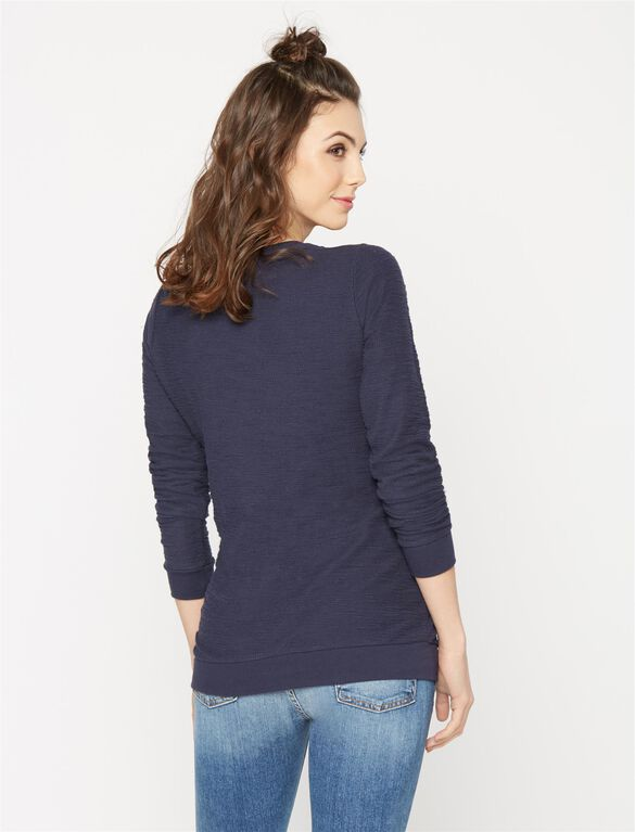 Screen Print Maternity Sweatshirt, Navy