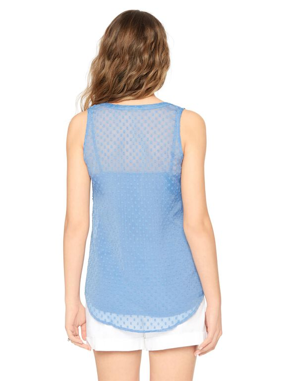 Clip Dot Maternity Tank, Dutch Blue