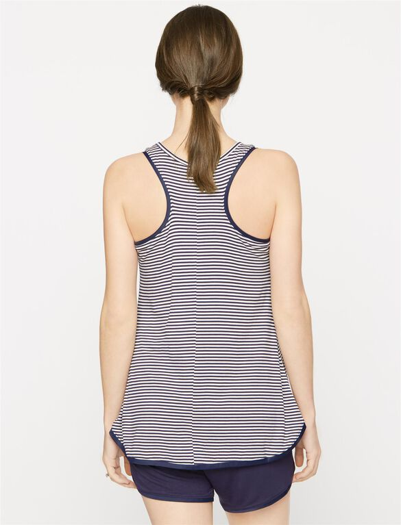 Racerback Maternity Sleep Tank, Stripe