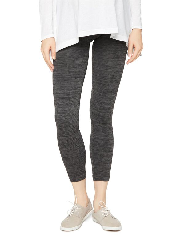 Faux Fur Lined Maternity Leggings, Grey