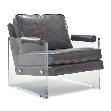 KAZAN LEATHER CHAIR, , hi-res