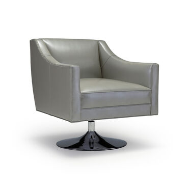 CARA LEATHER SWIVEL CHAIR, , hi-res