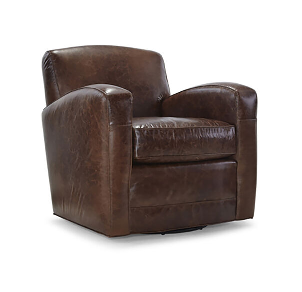 ELLIS LEATHER RETURN SWIVEL CHAIR, , hi-res