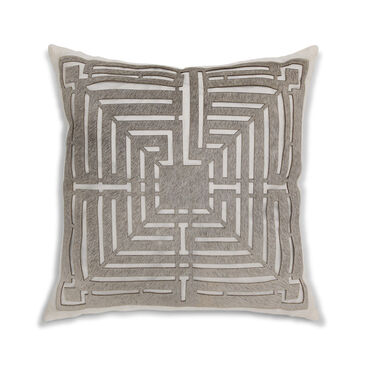 MODERN LASER-CUT HIDE PILLOW, , hi-res