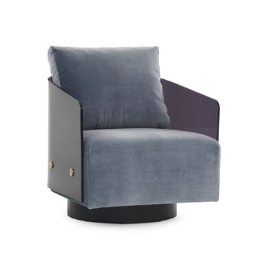 LUCY FULL SWIVEL CHAIR, LINLEY - DELFT BLUE, hi-res