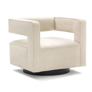 NICO FULL SWIVEL CHAIR, SOFT SUEDE - STONE, hi-res