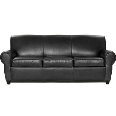 PHILIPPE LEATHER 3 SEAT SOFA, ROYALE - ONYX, hi-res