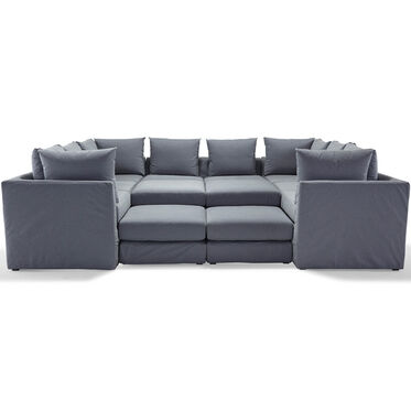 DR. PITT 7-PC SECTIONAL, CHAMBRAY - DENIM, hi-res