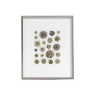 NATURAL GREEN URCHIN MOSAIC WALL ART, , hi-res