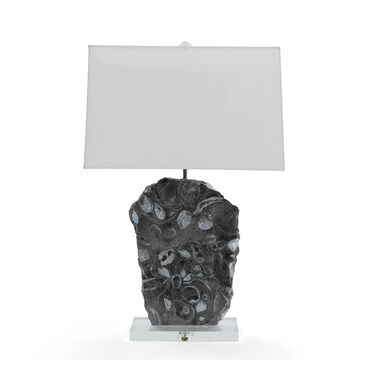 MORAN GRAY MARBLE TABLE LAMP, , hi-res