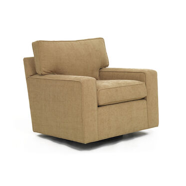 ALEX LEATHER SWIVEL GLIDER CHAIR, , hi-res