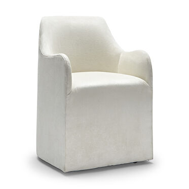 AMELIE DINING CHAIR, SOFT SUEDE - STONE, hi-res