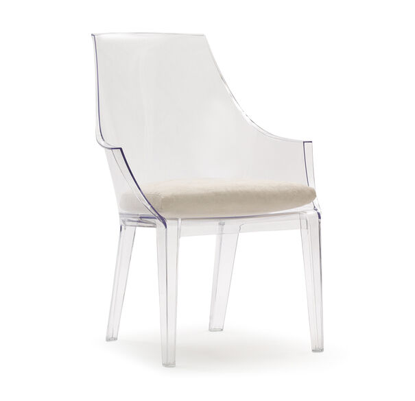 CLAIR CLEAR CHAIR WITH CUSHION, , hi-res