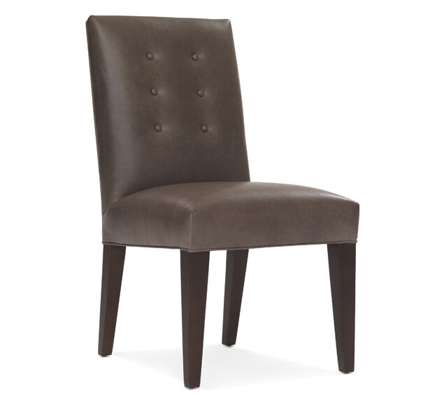 OLIVER LEATHER SIDE CHAIR, , hi-res