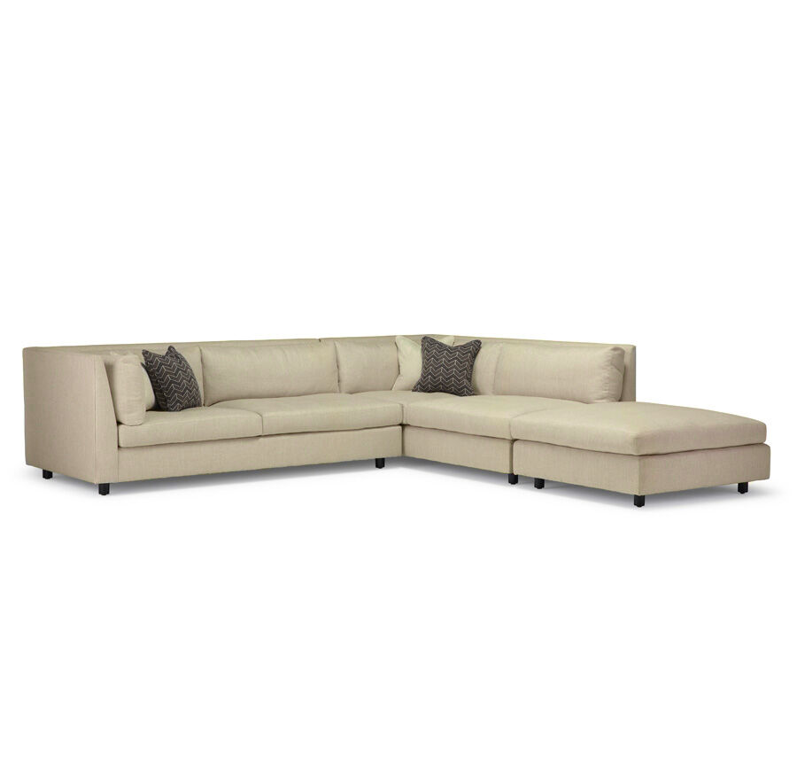 franco sectional sweetgrass ecru hires - Sofa Sectional