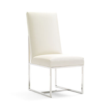 GAGE TALL SIDE CHAIR, ALLOY - WHITE, hi-res