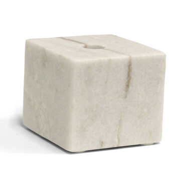 SMALL MARBLE BLOCK CANDLE HOLDER, , hi-res