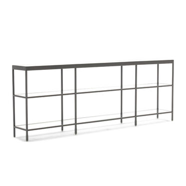 VIENNA LOW BOOKCASE SMALL - PEWTER, , hi-res