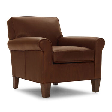 LOLA LEATHER CHAIR, PENLAND - TOBACCO, hi-res