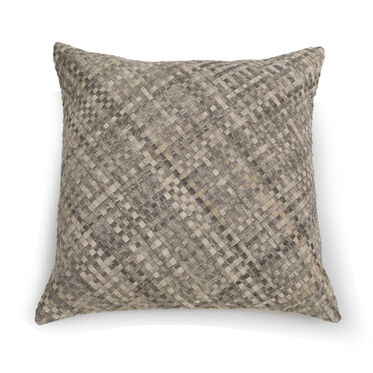 WOVEN HIDE FLOOR PILLOW, , hi-res