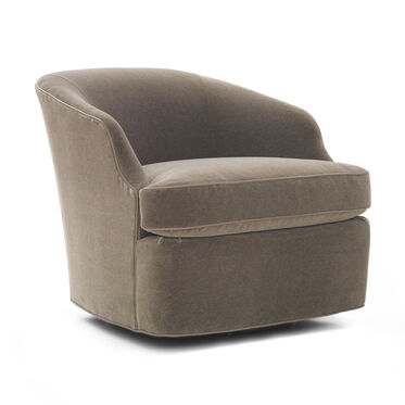 ARIES RETURN SWIVEL CHAIR, MOHAIR - STEEL, hi-res