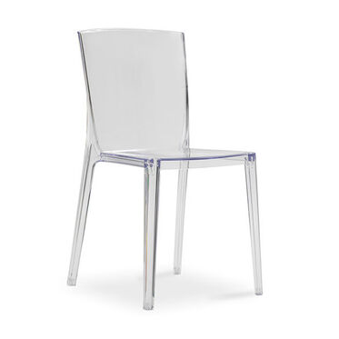 ALAIN CLEAR SIDE CHAIR, , hi-res