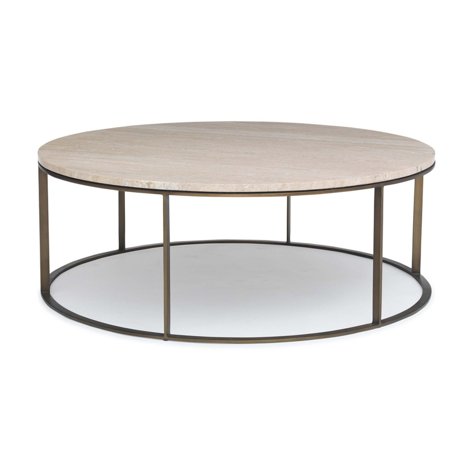 Allure round cocktail table What to put on a round coffee table