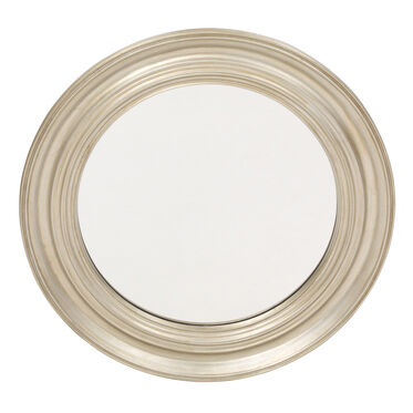 ROUND ANTIQUE SILVER MIRROR, , hi-res